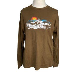 Gap Ski Pine Brown Athletic Fit Shirt XL